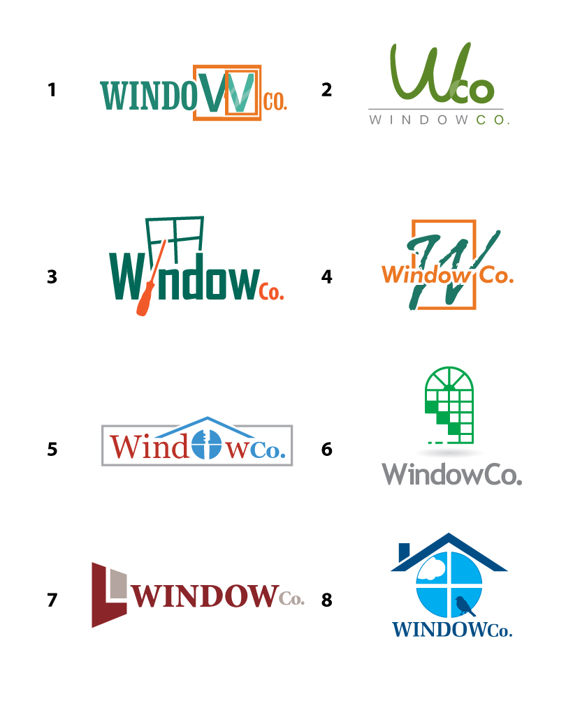 Samples of industrial logo designs mdesign media for Window design company