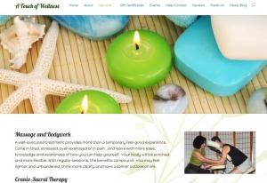 massage therapist website design